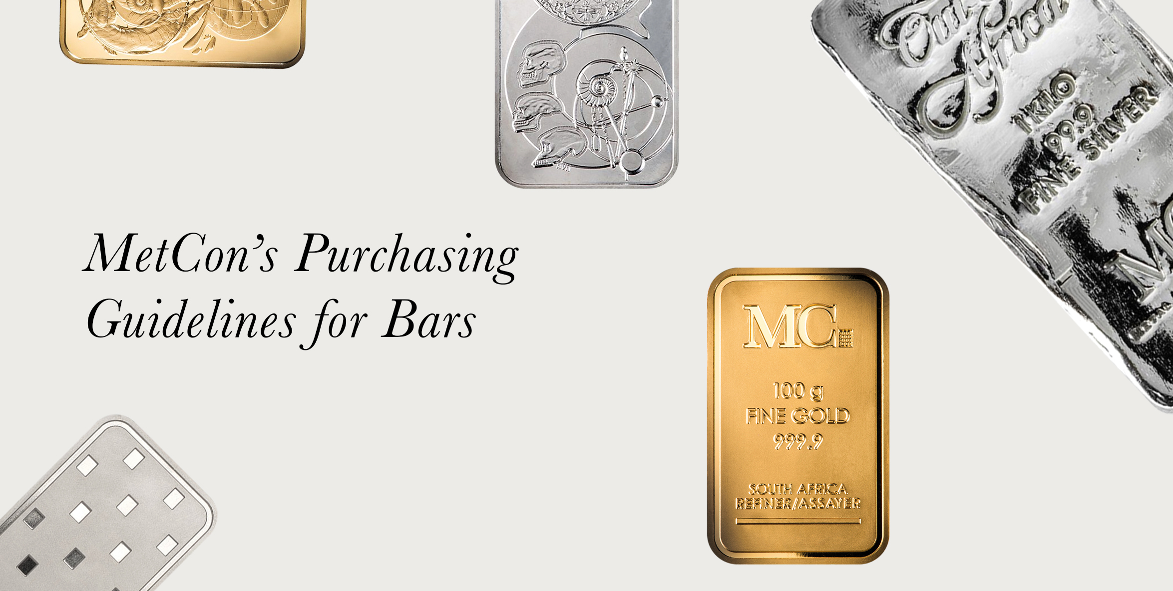 MetCon's Purchasing Guidelines for Bars